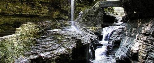 Watkins Glen with the falls