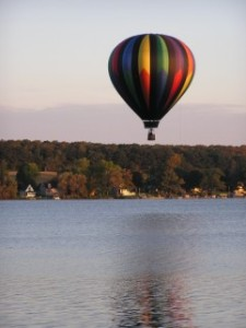 Balooning over Seneca Lake
